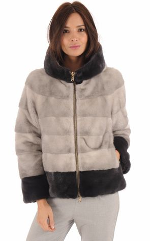 Mink jacket with zip – SR Furs Diffusion Ltd