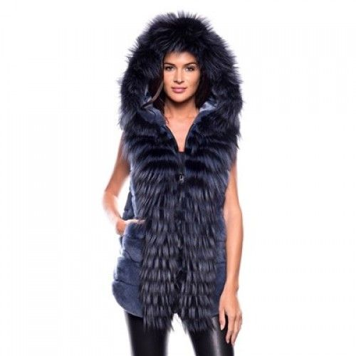 Rex rabbit and fox gilet – SR Furs Diffusion Ltd